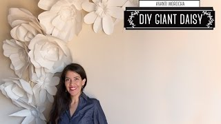 "DIY - Giant Paper Flower Backdrop ""Daisy - Margarita"" Decoracion de Fiestas - YouTube"