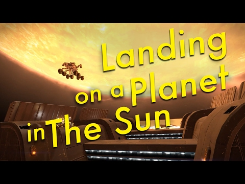 Space Tourism (Ep11) Landing on a Planet in the Sun | Elite Dangerous