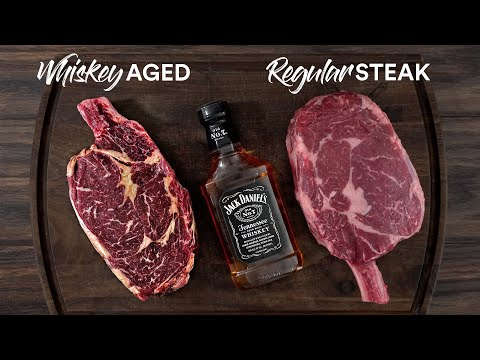 24hrs Whiskey Aged Steak Experiment | Guga Foods