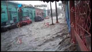 Lluvias causan daños en Santa Ana @emilio_coreaTCS