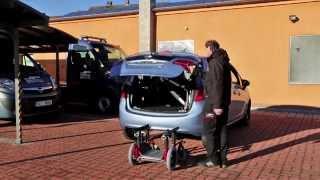 Nakládací zařízení vozíků OLYMPIAN 002 ve voze OPEL Meriva