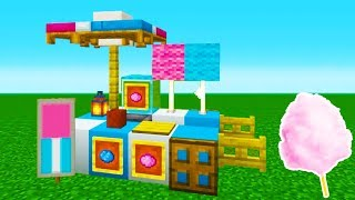 "Minecraft Tutorial: How To Make A Cotton Candy Stand ""2019 City Tutorial"""