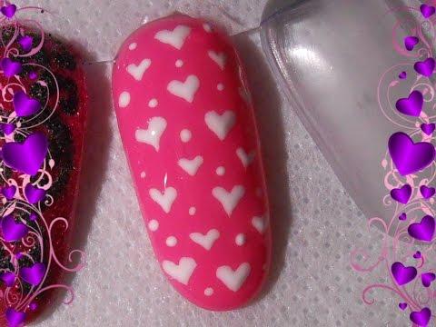 una semplice nail art per san valentino
