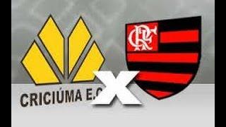 Gols: Criciúma 0 x 2 Flamengo - Série A Brasileiro 2014.O Flamengo venceu o Criciúma por 2 a 0 neste domingo, no Heriberto Hulse, em confronto válido pela 17ª rodada do Campeonato Brasileiro. Com o resultado, o time carioca chegou aos 22 pontos, subiu duas posições e é o 11º colocado. Já o clube catarinense manteve-se com 16 pontos e segue com no 17º lugar. Os dois gols foram marcados no segundo tempo. Mugni abriu o placar e Eduardo da Silva ampliou.