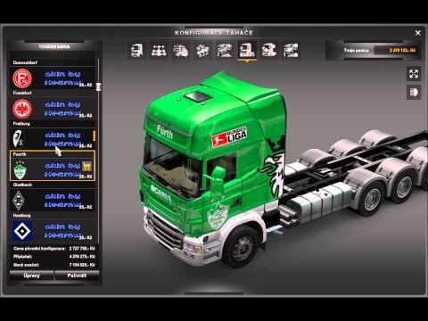 Euro truck simulator 2  mod Tuning Scania tandem