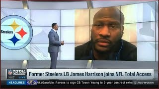 Former Steelers LB James Harrison joins NFL Total Access Today
