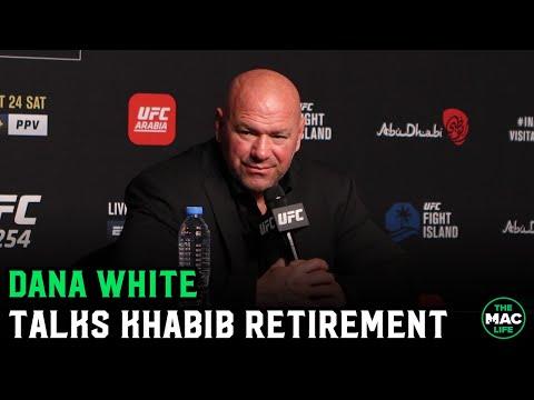 "Dana White reacts to Khabib Nurmagomedov retirement: ""He is the baddest motherf***er on the planet"""