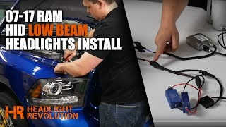 SKIP TO 9:25 FOR ON-VEHICLE DEMONSTRATION. MORE DETAILS BELOW!INSTALL IS THE SAME ON REFLECTOR OR PROJECTOR HEADLIGHTS!Find these kits on our website here:https://headlightrevolution.com/vehicles/dodge-ram/headlights/The Type B CANBUS HID conversion kit is a difficult install, so we broke the install down in two sections: On the table, talking about each part, and on the vehicle. Skip to 9:20 in the video for an on-the-vehicle installation demo.If you have any questions about your install, please email or call us M-F 10am - 5pm Central time.https://headlightrevolution.com/contact-us/
