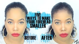 Video How To | 5 EASY Ways To Make Your Forehead Look SMALLER! MP3, 3GP, MP4, WEBM, AVI, FLV November 2018