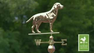 Labrador Retriever Weathervane - Polished Copper - Good Directions