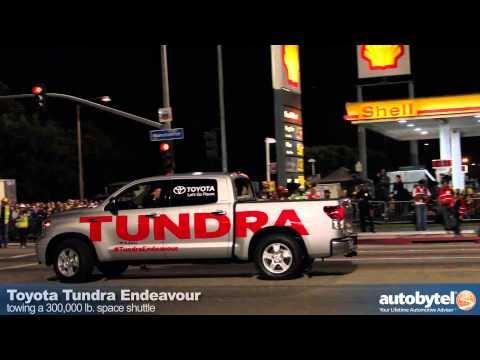 Space Shuttle Endeavour Pulled By A Toyota Tundra