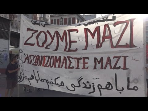 Πορεία καταλήψεων στέγης προσφύγων στο κέντρο της Αθήνας