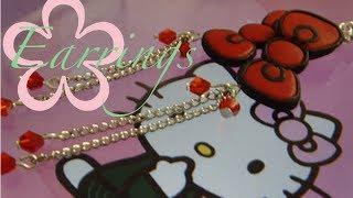 DIY: MeiIris' Hello Kitty Bow Earrings Tutorial - YouTube