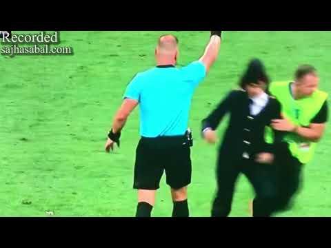 (Fan inside Ground in Worldcup - विश्वकप फाइनल खेल हुँदैगर्दा खेल मैदानमै दर्शकहरु छिरेपछि... - Duration: 23 seconds.)