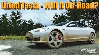 Forza Horizon 2 Lifted Tesla Model S - Will It Off-Road?