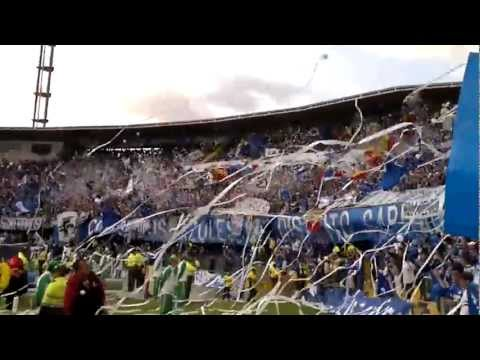 FINAL LIGA POSTOBON 2012 - II - SALIDA DE MILLONARIOS.mp4 - Comandos Azules - Millonarios