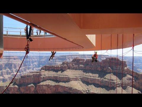 Hieman vaativampaa lasien pesemistä Grand Canyonilla