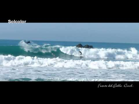 Surfing in Conil (Fuente del Gallo)