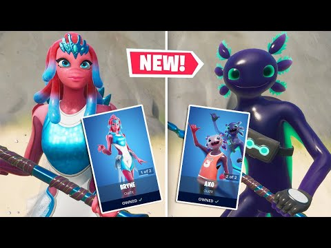 The NEW AXO & BRYNE Skins Look ADORABLE! (Fortnite Battle Royale)