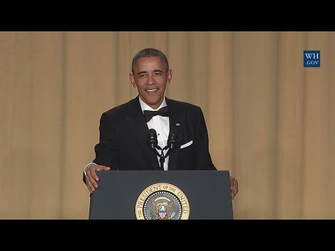 President Obama Speaks at the White House Correspondents' Association Dinner and #DropDaMic