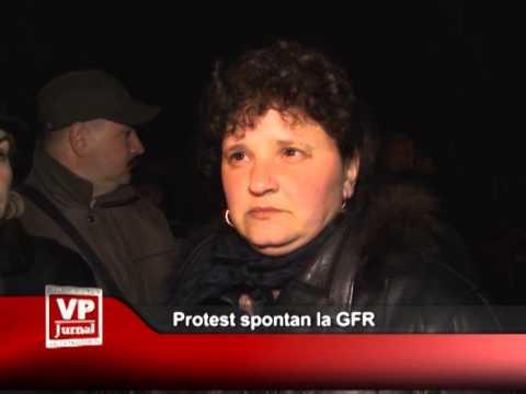 Protest spontan la GFR