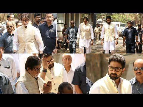 Amitabh Bachchan & Abhishek Bachchan At Suniel Shetty's Father's Funeral