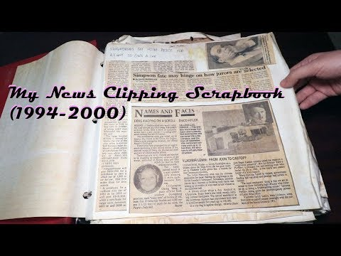 My Old News Clippings Scrapbook (1994 - 2000)