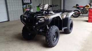 9. 2016 Honda Foreman 500 Camo ATV Walk-Around Video | TRX500FM1G FourTrax 4x4 Four Wheeler