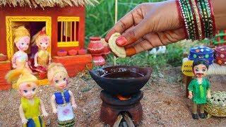 Miniature Holi Special Gujiya & Thandai | Gujiya Recipe | Thandai Recipe | Miniature Cooking #32