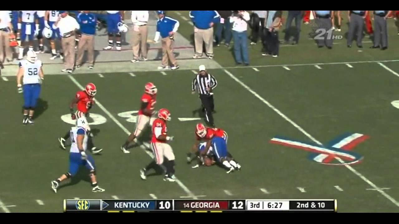 Jarvis Jones vs Kentucky and Tennessee (2011)