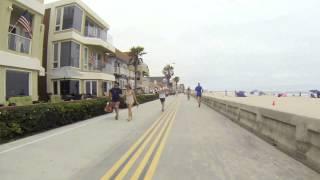 Biking Mission Beach Boardwalk