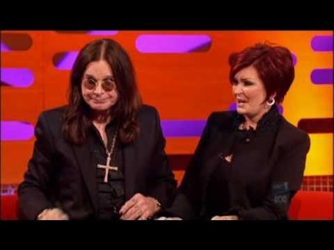 Ozzy Osbourne trying a health drink