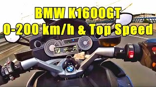 8. BMW K1600GT 0-200 Km/h acceleration, Top Speed and Flying through Moscow city traffic