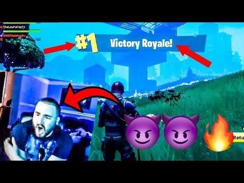 LosPollosTv Carries His Squad To Back To Back Fortnite Wins (Clutch) (видео)