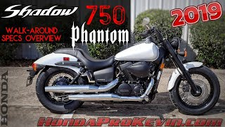 3. 2019 Honda Shadow Phantom 750 Review of Specs / Walk-Around | Cruiser / Motorcycle - VT750