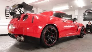 Nissan GTR Red Vinyl Wrap