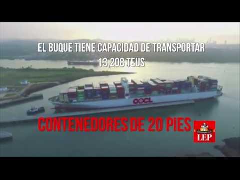 Portacontenedores establece nueva marca de tránsito en Canal Ampliado