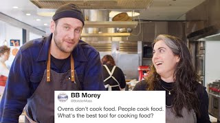 Bon Appétit's Brad & Claire Answer Cooking Questions From Twitter | Tech Support | WIRED