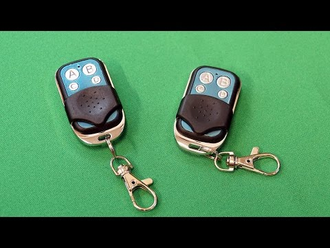 How to reset or clone the code of 4 Channel RF Key Remote Control 315/433MHz from ebay