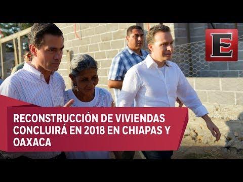 Peña Nieto visita zona de reconstrucción en Chiapas