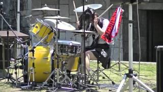 ガールズロックバンド革命ドラムJunnaイン丸亀お城祭り2016①