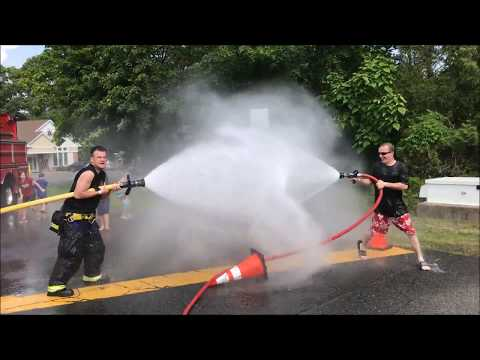 DUAL WETDOWN CELEBRATION FOR FRANKLIN LAKES FIRE DEPARTMENT ENGINE 331 & ENGINE 334 IN NEW JERSEY.