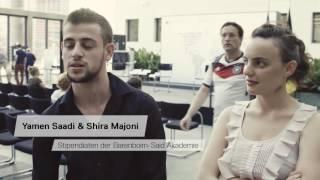 Yamen Saadi & Shira Majoni, Studenten der Barenboim-Said Akademie, im Interview im Ministerbüro beim Tag der offenen Tür...