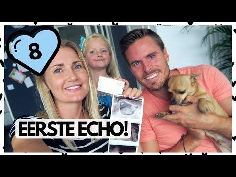 8 weken zwanger echo | Vlog #156 | diesnaloomans.nl