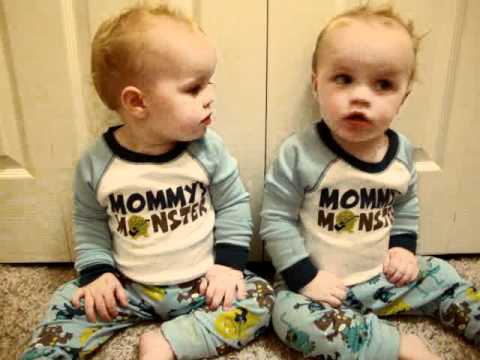 Twin - My twin boys when they were younger (15 months old).. just learning to talk, and they knew a few signs.