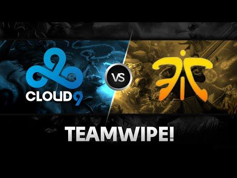 Teamwipe by Cloud9 vs Fnatic @ D2CL S4