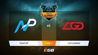 Team NP vs LGD Gaming, Game 1, DOTA Summit 7 LAN-Final, Day 1
