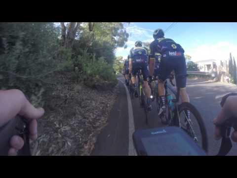 Training with Orica Scott, Chaves and Caleb Ewan at the Tour Down Under 2017