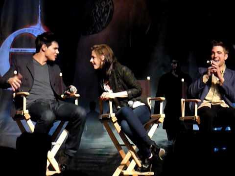 Robert Pattinson, Kristen Stewart y Taylor Lautner en la Convencion de Eclipse