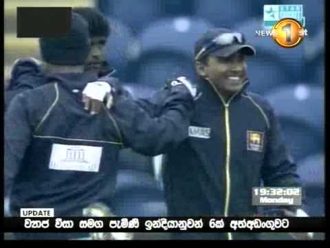 Sangakkara interviews Malinga at SLPL match